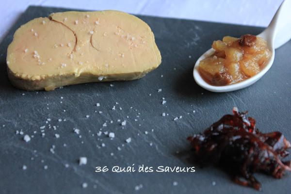 Foie gras cuit dans le sel parfumé