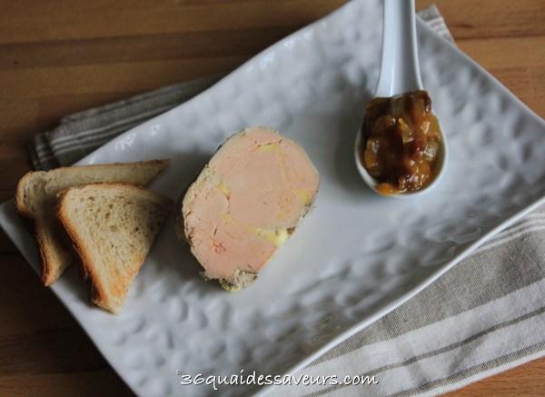 Foie gras cuit à la vapeur (Thermomix)