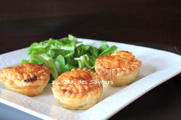 Minis tourtes (mince pie) à la viande et aux champignons