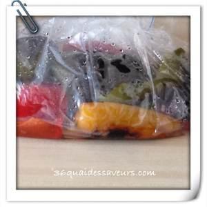poivrons marinés huile d'olive et ail