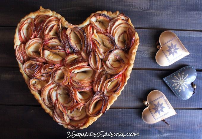 Tarte aux pommes façon bouquet de roses…. ou fleurs de champs