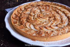 tarte aux pommes pâte sablée aux amandes2