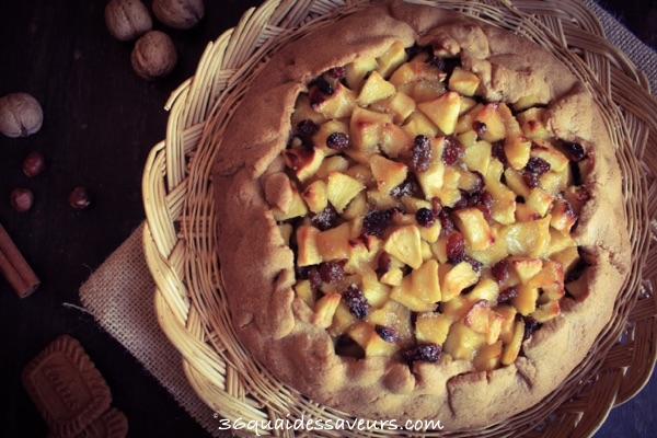 Tarte rustique aux pommes pâte sablée aux spéculoos