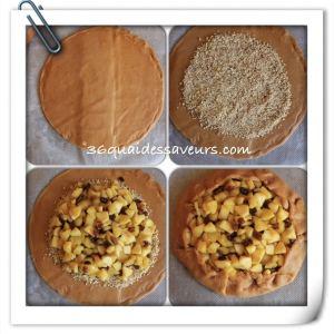 tarte rustique aux pommes pate sablée spéculos3