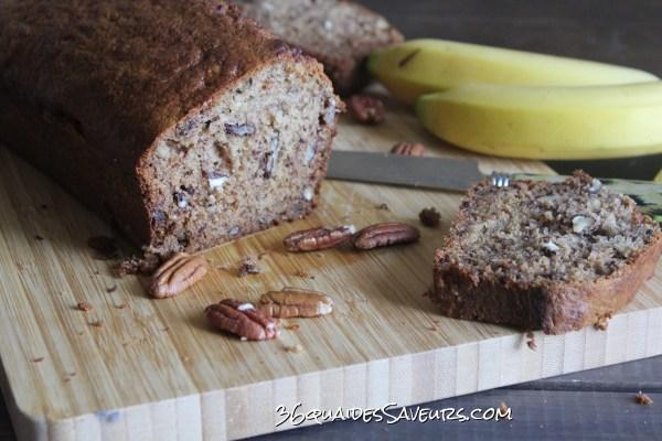 Cake à la banane et aux noix de pécan