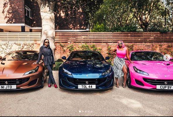 Billionaire businessman, Femi Otedola Buys Three Ferrari Portofino Whips For His Daughters (See Photos)