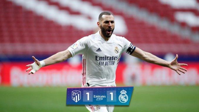 Atletico Madrid vs Real Madrid 1-1 – Highlights