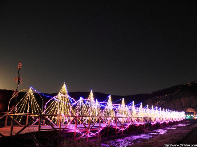 電飾橋とオリオン/花の都公園