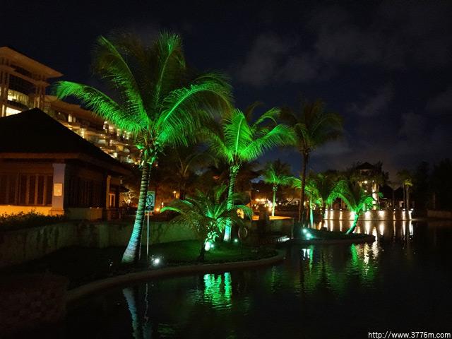 リゾートホテルの夜/ブルネイ王国