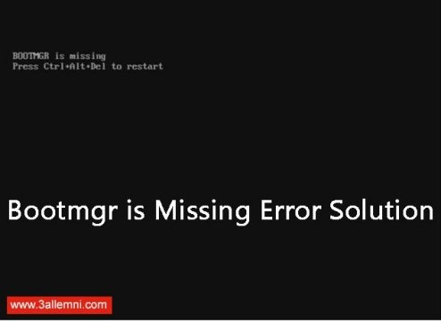 حل مشكلة Bootmgr Is Missing في ويندوز 10 8 7 علمني دوت كوم