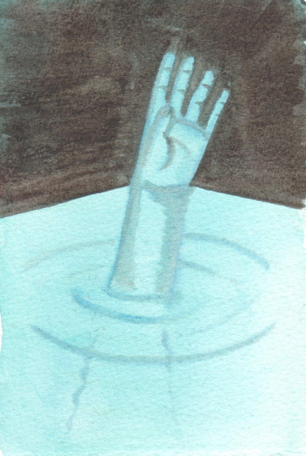 Fear of Drowning Jo Potocki Abstract Blue Black Original Painting Watercolor Art   eBay