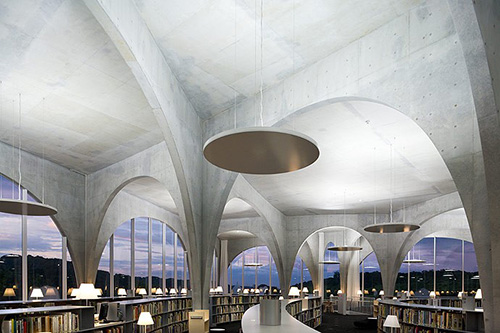 Tama Art University Library - Photograph by Iwan Baan