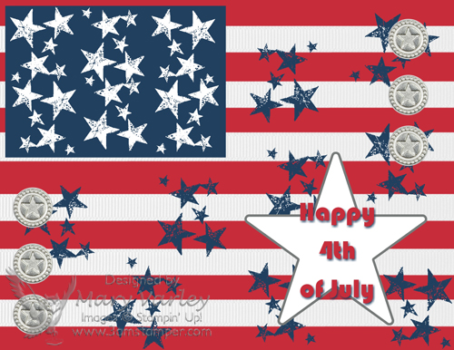 4th of July Flag Simulation - Visit http://www.3amstamper.com