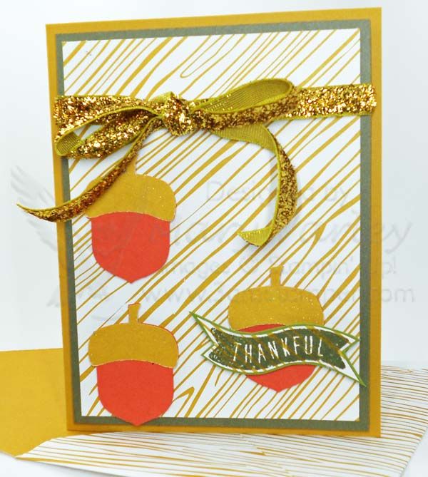 Acorny Thankful Card - Visit http://www.3amstamper.com