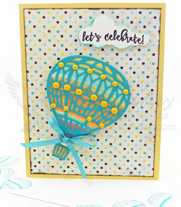 Hot Air Balloon Celebrate Card - Visit http://www.3amstamper.com