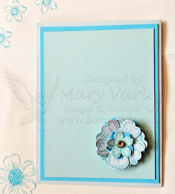 Blue Roses Card-A Different Valentine-Visit http://www.3amstamper.com