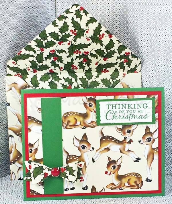 Garden Green & Real Red Christmas Card - visit http://www.3amstamper.com