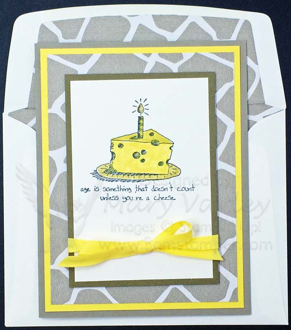 Go Wild Daffodil Delight Cheese Wedge Card-Visit http://www.3amstamper.com