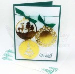 Gold Ornament Card Sampler - Visit http://www.3amstamper.com