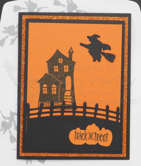 Haunted House Trick or Treat Card - visit http://www.3amstamper.com