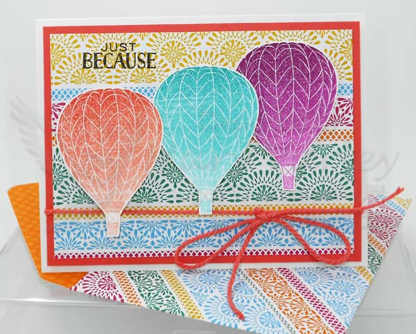 Hot Air Balloons Card - Visit http://www.3amstamper.com