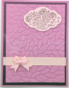 In Colors 2017-2019 Fresh Fig & Powder Pink with Sweet Sugarplum Birthday Card - visit http://www.3amstamper.com
