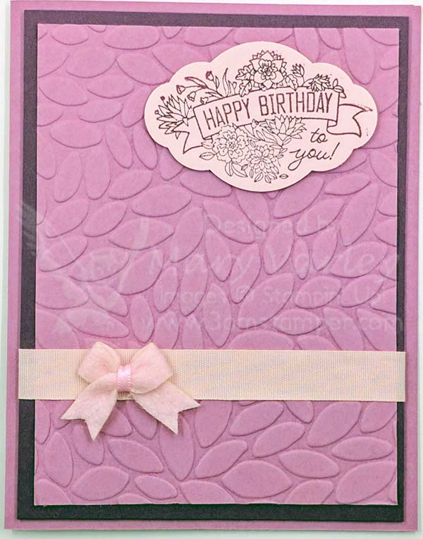 2017-2019 In Colors Fresh Fig & Powder Pink with Sweet Sugarplum Birthday Card - visit http://www.3amstamper.com