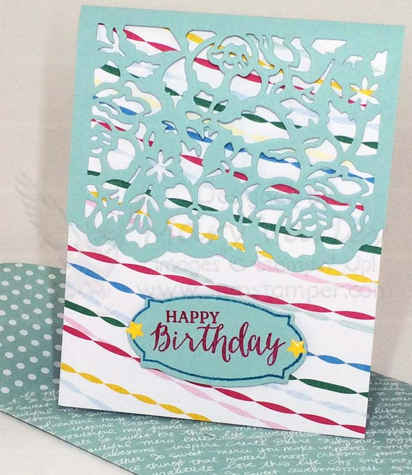 Lacy Birthday Card - Visit http://www.3amstamper.com