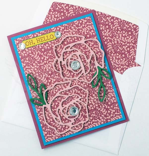 Lacy Spring Greeting Card - Visit http://www.3amstamper.com