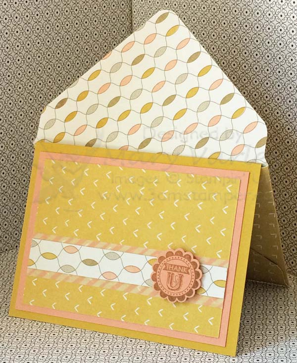 Lullaby Card #4 with Crisp Cantaloupe & Hello Honey-Visit http://www.3amstamper.com