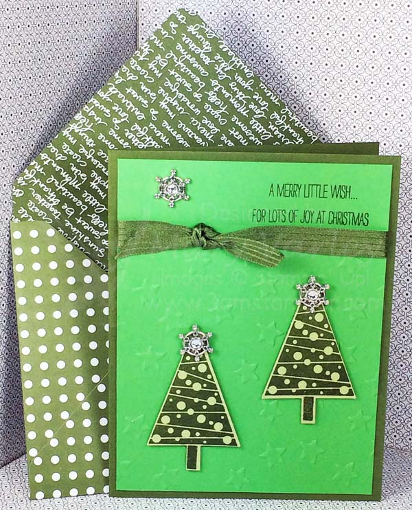 Mossy Meadow Christmas Card - visit http://www.3amstamper.com