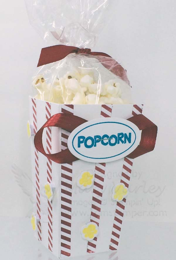 Ready to Pop Popcorn Box - Visit http://www.3amstamper.com