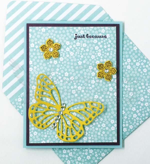 Soft Sky Butterfly Because Card - Visit http://www.3amstamper.com