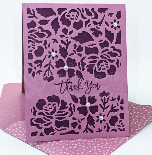 Sweet Sugarplum Thank You Card - Visit http://www.3amstamper.com