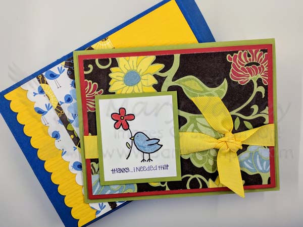 Gift Box with Card Sample - Visit http://www.3amstamper.com