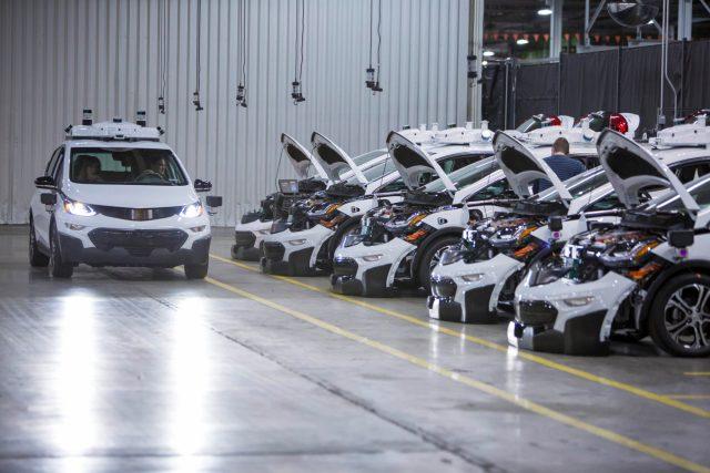 Chevrolet Bolt EV autonomous test vehicles are assembled at Gene