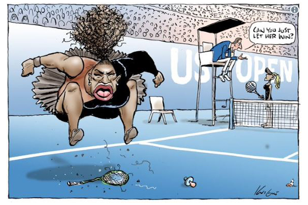 Cartoon of Williams' meltdown 'not racist' - watchdog