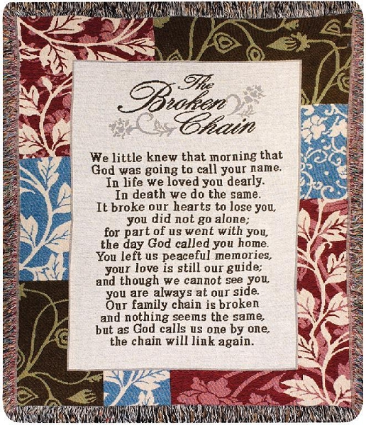 Broken Chain Tapestry Throw