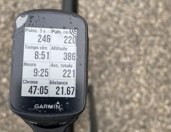 Test du compteur/GPS Garmin 130 Plus