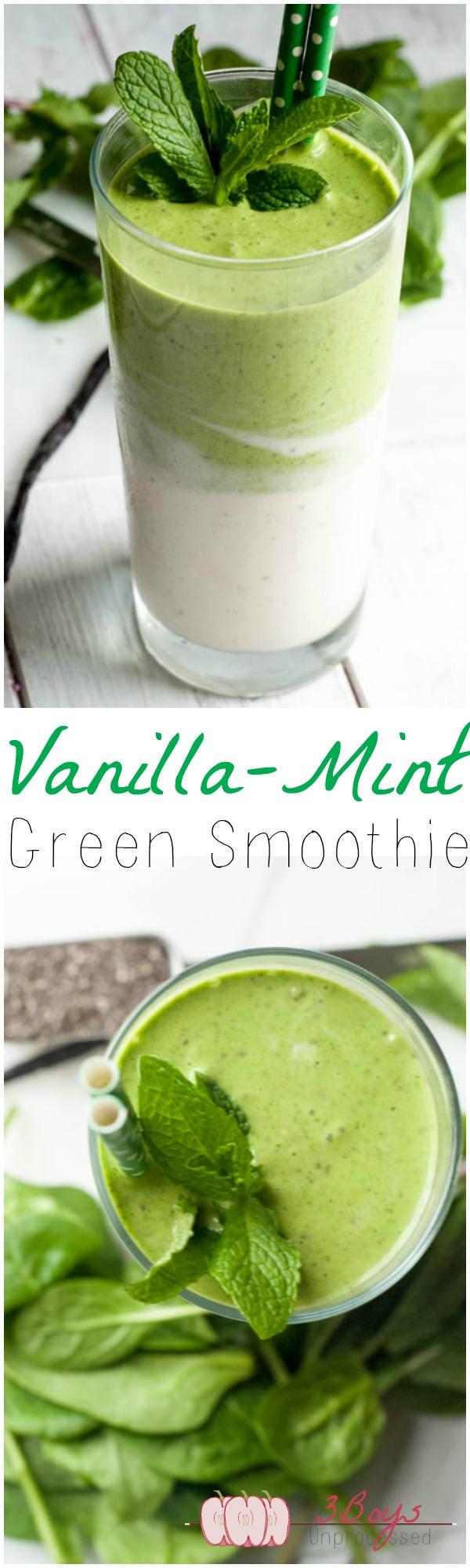 Super Vanilla Mint Green Smoothie - Pretty Little Apron YV-23
