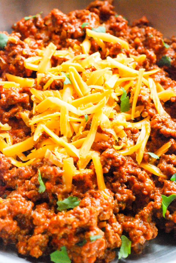 Easy Cheesy Taco Meat recipe. The best from scratch tacos ever! || www.3boysunprocessed.com