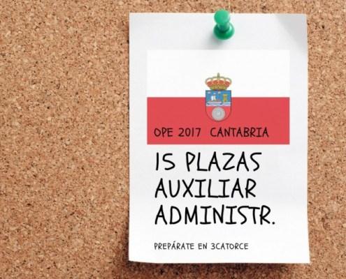 Nuevo curso oposiciones auxiliar administrativo Cantabria 2018