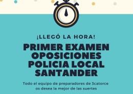 Primer-Examen-oposiciones-policia-local-Santander Curso Policia Local Santander
