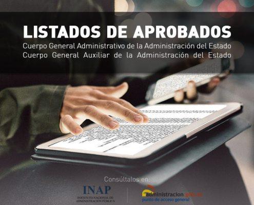 Listas aprobados administrativo y auxiliar administrativo del estado