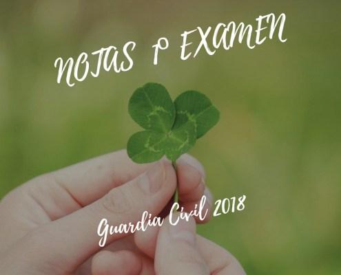 Notas primer examen oposiciones Guardia Civil 2018