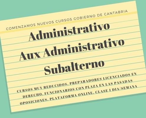 Nuevos Cursos intensivos preparar oposiciones Gobierno de Cantabria