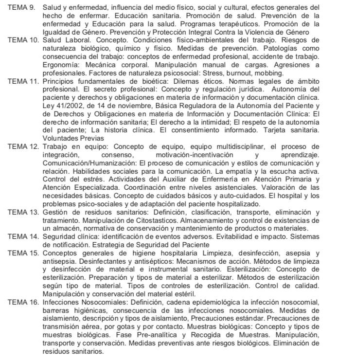 Temario-Auxiliar-Enfermeria-Servicio-Cantabro-de-Salud-2 Repaso oposiciones auxiliar enfermeria Cantabria SCS Santander y Torrelavega