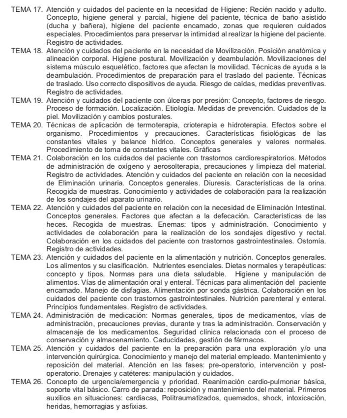 Temario-Auxiliar-Enfermeria-Servicio-Cantabro-de-Salud-3 Repaso oposiciones auxiliar enfermeria Cantabria SCS Santander y Torrelavega