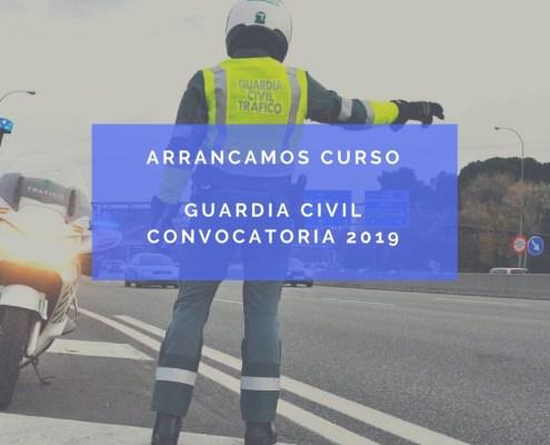 Arrancamos curso para las oposiciones guardia civil 2019