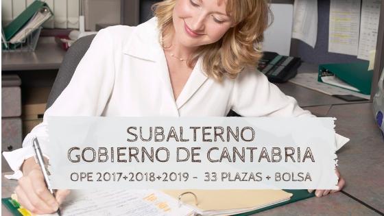 3 Plazas OPEs 2017 2018 2019 Cantabria Oposiciones 2020